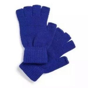 NWT The Rail Blue Fingerless Gloves